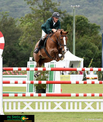 Keeping it sweet over the candy cane themed jump was Chris Chugg riding KG Queenie during the Kolora Lodge Silver Tour Final placing him a respectable 2nd place.