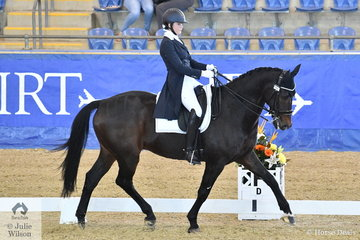 Jasmine Haynes rode her Umbro to 4th place in the Agnes Bank FEI Young Rider Freestyle.