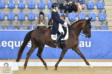 Brooke Mance rode Callum Park Freya to third place in the Agnes Bank FEI Young Rider Freestyle, scoring 68.4%.
