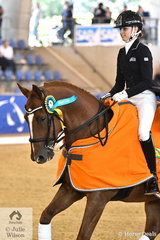 Lucy Alati rode CJP His Lordship to win the Flexible Fit Junior Rider Freestyle with a score of 69.44.