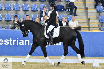 Karen Blyth rode her Stedinger gelding Sonic K to win the Kohnke's Own 4 Year old championship.  Sonic K also recently won the Dressage with the Stars 4 year old Championship.
