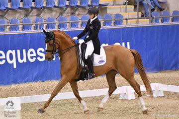 Wendi Williamson from New Zealand rode Judith and Peter Matthews', Decadance to ninth place in the SAP Intermediate Freestyle CDI 3*.