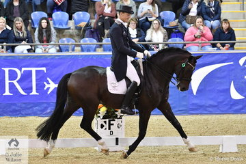 Brett Parbery rode Terry Snow's, imported stallion Sky Diamond to take third place in the SAP Intermediate Freestyle CDI 3*, scoring 72.22. Sky Diamond was also awarded the John Lieutenant Memorial Trophy for the combination obtaining the best three official scores in the PSG, INT. I and Freestyle.