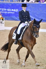 Emily James riding her own PR Firenz took sixth place in the SAP Intermediate Freestyle CDI 3*.