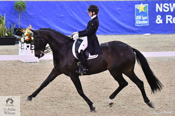 Maree Tomkinson rode her eight year old imported mare, DMJ Donna Elena to fifth place in the Equestrian NSW Grand Prix Freestyle CDI 3*. With the large crowd Donna Elena was a little nervous to start with but really rose to the occasion and produced some excellent work as the test progressed.
