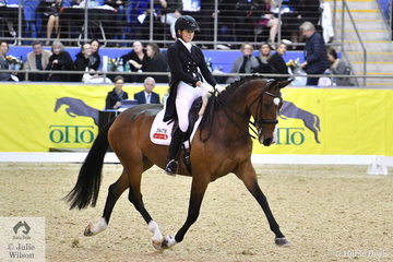Fiona Selby and her imported mare, Tacita produced a nice test to finish in fourth place in the Equestrian NSW Grand Prix Freestyle CDI 3*, scoring 70.46%.
