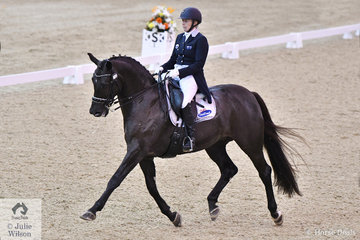 Rozzie Ryan and Jarrah R were last out in the Equestrian NSW Grand Prix Freestyle CDI 3*. There were some impressive scores on the board, but the talented and experienced Rozzie produced a a very strong artistic test to just take the win with a score of 72.95%.