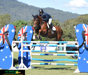 Local rider, Merrick Ubank and Alantinus competed in the hotly contested Gold Tour Final at the AQUIS Champions Tour held at the beautiful Elysian Fields.