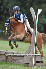 "Amelia Baines placed 2nd in the Grade 5 riding ""Oaks Park Serengeti"" representing Ringwood Pony Club"
