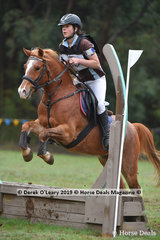 "Jaelina Kiley placed 4th in the Grade 5 riding ""Tenah Ko Charlie"" representing Phillip Island Pony Club"