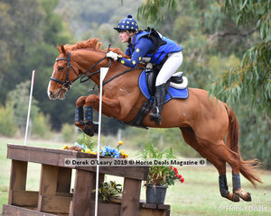 "Clara Galvin placed 2nd in the Grade 2 riding ""Royal Star Cha Cha"" representing Drouin Pony Club, with a final score of 32.80"