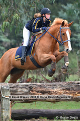 "Evie Crawford rode ""Kalima Tiger Lily"" in the Grade 2 representing Kyneton Pony Club"