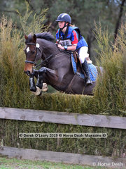 "3rd place in the Grade 1 105cm class went to Maddy Kitto riding ""My Friend Jack"" representing Yarrambat Pony Club with a final score of 36.50"