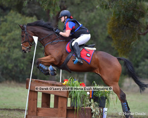 "Annalise Turner placed 4th in the Grade 1 105cm riding ""Springhurst"" representing Yarrambat Pony Club with a final score of 43.90"