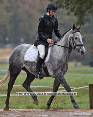 """""""Blackall Park Avoca""""  ridden by Rebecca Stacey in the EvA80 Section C, true to form Ballarat was cold, wet and windy."""