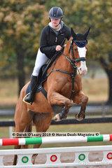 "Nicole Davis in the EvA 80 Section C showjumping riding ""Gold Zac"""