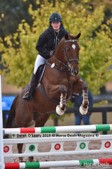 """Stella Eales in the EvA 80 Section B riding """"Yorkeshire Envoy"""""""
