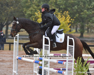 """Maddison Hodgetts in the EvA 80 Section B Showjumping riding """"Lambourne Park Scholar"""""""