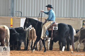 Ali Ali rode Lonesome Cheokee to win the Amateur Junior Horse, Ranch Cutting.