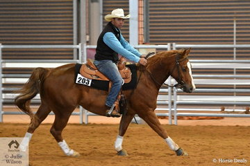 Danny Kapa rode Proud Lil Merdoc to second place in the Open Junior Horse Ranch Boxing.