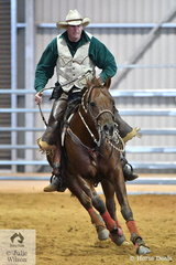 Tyler Graham rode Juscrusin to third place in the Senior Horse Ranch Boxing class.