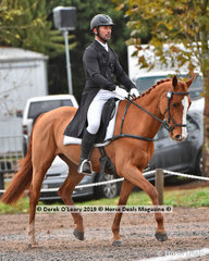 """""""Lushious Lola"""" in the CCI3* -S Dressage Phase ridden by Murray Lamperd"""