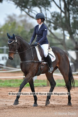 """Sophie Doake in the CCN1*-SB Dressage Phase riding """"Heist"""""""