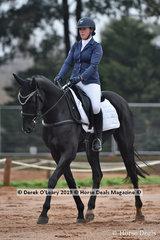 "Sheridan Wilson in the  CCI2*-SA Dressage Phase riding ""Patanga Lodge Bentley"""