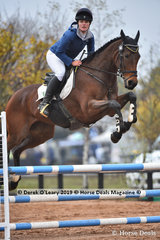 """Penelope Johnson placed 4th in the EvA 95 Section A combined training riding """"Highgarden"""" with a final score of 30.80"""