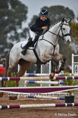 """Emily McQueen placed 3rd in the EvA 95 Section A riding """"Bransy Rock Icon"""" with a final score of 30.80"""