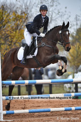 """Kate Barton placed 7th in the EvA 95 Section A riding """"Teasing To Please"""" with a final score of 35.10"""