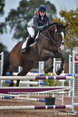 """Lauren Hussell in the EvA 95 Section A Combined training riding """"Super Time"""""""