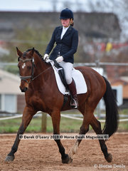 """""""Vinchenzo"""" in the CCI2*-SB Dressage Phase ridden by Jasmine Dillon"""