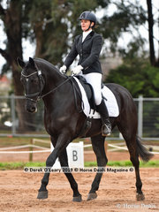"""""""Oisin"""" ridden by Yvette Woodburn in the CCI2*-SA Dressage Phase"""