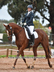 """""""Viewbank Icon"""" ridden by Anna Church in the Dressage phase of the CCI2*-SA"""