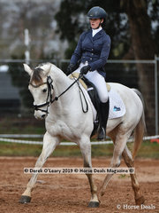 """""""Ballahowe TT"""" ridden by  Annabelle Nelson in the Dressage phase of the CCI2*-SB"""