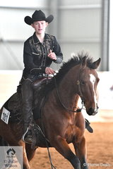 Amy Gear rode Alenas Smart Kat in the Youth Ranch Riding class. Each class has a number of divisions; Youth, Novice Amateur, Freshmans (beginner), Amateur, Open Junior Horse and Open Senior horse.