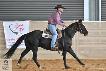 Bruno Robinson riding An Acre Named Sue won the Amateur Ranch Riding class.