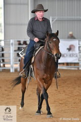 Ian Collie rode Ozzy to sixth place in the Amateur Ranch Riding class.