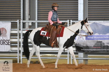 Janelle Thomas rode Justa Promise to fourth place in the Open Junior Horse Reining. In Ranch Horse events you can ride any breed of horse, you just have to ride in a western type saddle without bling and wear western or stockman type clothing.