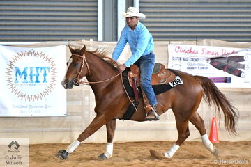 Danny Kopa rode Pround Lil Merdoc to third place in the Open Junior Horse Reining.