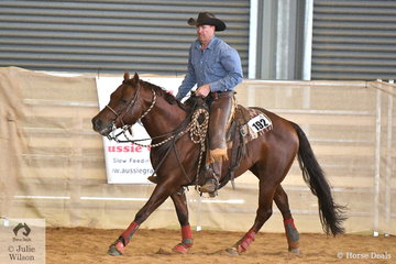 Paul Henschke rode WP Statutorial to sixth place in the Open Senior Horse Ranch Reining.