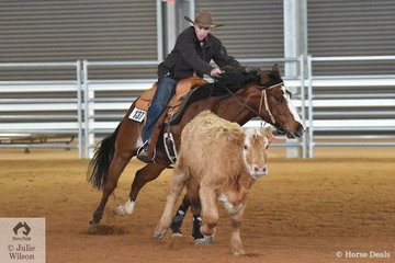Tommy Read and Lethal Lexie took second place in the Open Junior Cow Horse class.