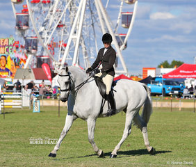 """Winner of the Open Show Hunter over 16.2hh """"Supersition"""" and Penelope Austin."""