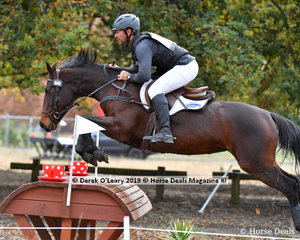 "Murray Lamperd  placed 2nd in the CCN1* Div 1 riding ""SKIPCELLOS SKY HIGH"" with a final score 32.40"