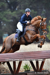 "Sara-Jane Vaughan  placed 7th in the CCN1* Div 1.riding ""SOLITAIRE PK EXCLUSIVE ALIBI"" with a final score of 46.10."