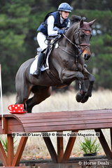 "Jane Salter placed 3rd in the CCN1* Div 1 riding ""BENCHMARK DOLLY"" with a final score of 33.20"