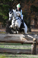 "Lily Wickenden placed 2nd in the CCI3*-S.riding ""FUERST SENSATION"" with a final score of 52.80"