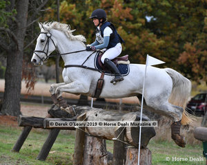 "Sophie Doake placed 7th in the CCI3*-S riding ""GRANDJANY"" with a final score of 63.80"