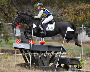 "Sophie Fox placed 4th in the CCI3*-S riding ""MR PIG"" with a final score of 61.90"